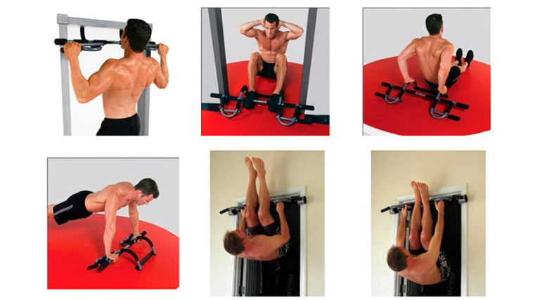 Iron Gym Total Upper Body Workout Bar Exercises
